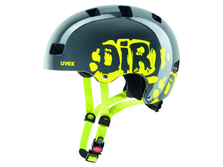 Kiivri Uvex Kid 3 dirtbike gray-lime