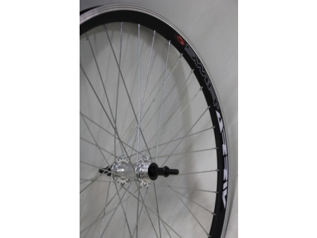 "Tagajooks 26"" alloy freewheel hub, DoubleWall black rim 30mm"