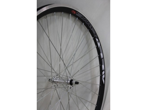 "Esijooks 28"" alloy hub, DoubleWall black rim 30mm"