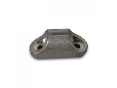 Housing holder alloy with holes for riveting, silver