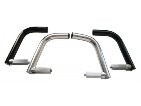 Sarved silver alloy for end of handlebar