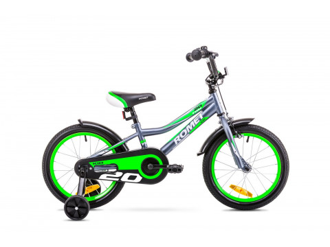 "Jalgratas Romet Tom 20"" 2019 graphite-green"