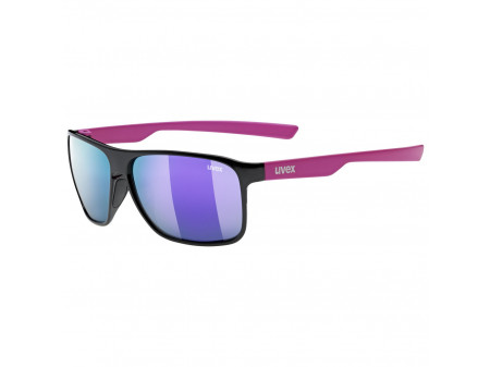 Prillid Uvex lgl 33 Polarized black pink mat / mirror purple