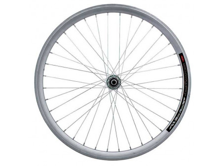 "Esijooks 26"" alloy hub (machinery bearings), doublewall silver rim 30mm"