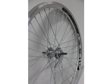 "Tagajooks 24"" Velosteel single speed hub, DoubleWall silver rim 30mm"