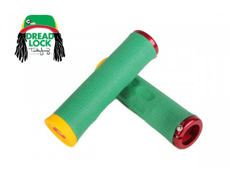 Käepidemed ODI Dread Lock Tinker Juarez Signature A.I.R.E. 130mm Lock-On Rasta