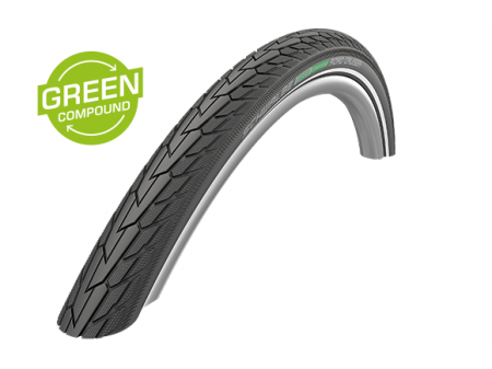 "Väliskumm 28"" Schwalbe Road Cruiser HS 484, GreenCompound 42-622 Reflex"