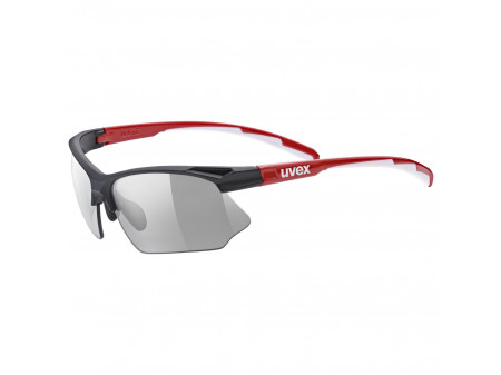 Prillid Uvex Sportstyle 802 variomatic black red white / smoke