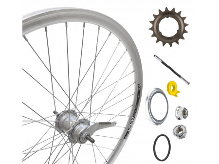 "Tagajooks 26"" Shimano Nexus 3-speed hub, DoubleWall silver rim 30mm"
