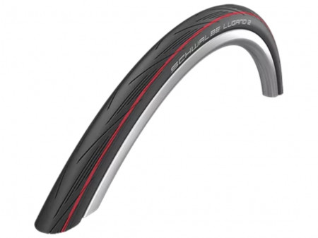 "Väliskumm 28"" Schwalbe Lugano II HS 471, Active Wired 25-622 Red Stripes"