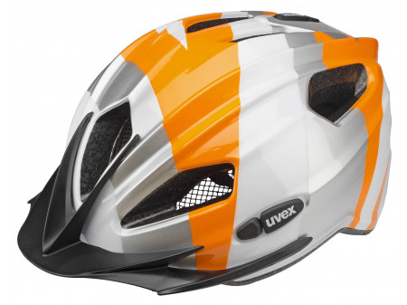 Kiivri Uvex Quatro Junior silver orange-50-55CM