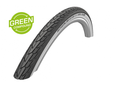 "Väliskumm 28"" Schwalbe Road Cruiser HS 484, Active Wired 37-622 Whitewall-Reflex"