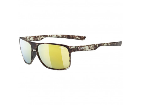 Prillid Uvex lgl 33 Polarized havanna mat / mirror yellow