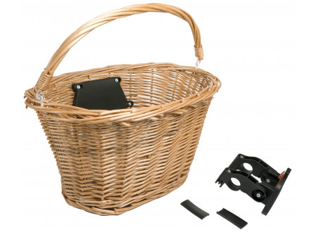 Rattakorv esimene Azimut Wicker NATURAL with plastic clip 38X29X21cm