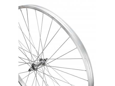 "Esijooks 28"" alloy QR hub, wide 25mm Alu singlewall rim"