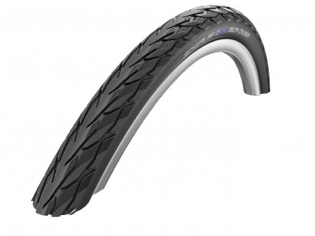 "Väliskumm 28"" Schwalbe Delta Cruiser Plus HS 431, Active Wired 37-622 Black-Reflex"