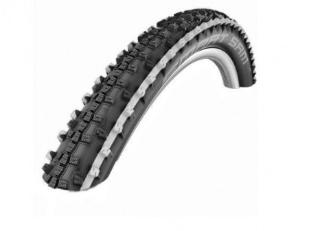 "Väliskumm 26"" Schwalbe Smart Sam HS 476 Perf. Wired 57-559 White Stripes"