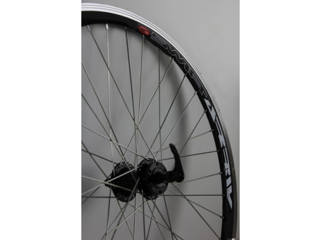 "Esijooks 26"" alloy disc hub QR black, DoubleWall black rim 30mm"