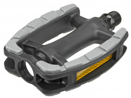 Pedaalid Azimut Trekking plastic Antislip with ZU bearings and reflectros (1011)
