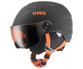 Suusakiiver Uvex Junior visor pro black-orange mat