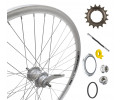 "Tagajooks 28"" Shimano Nexus 3-speed hub, DoubleWall silver rim 30mm"